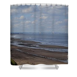 Redcar From A Distance Shower Curtain