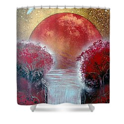 Shower Curtain featuring the painting Redder by Jason Girard