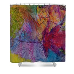 Redgum In Spring Breezes Shower Curtain by Claudia Smaletz