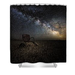 Redneck Planetarium Shower Curtain