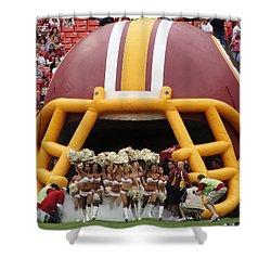 Redskins Cheerleaders Shower Curtain by Natalie Ortiz