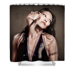 Ree Ja Soul Shower Curtain by Gary Heller