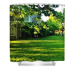 Reed College Campus Evening Light Shower Curtain by Anna Porter