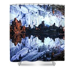 Reed Flute Cave Guillin China Shower Curtain by Thomas Marchessault