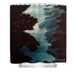 Reef Pohnpei Shower Curtain by Karen  Ferrand Carroll