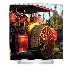 Shower Curtain featuring the photograph Reeves Steam Tractor by Pete Trenholm