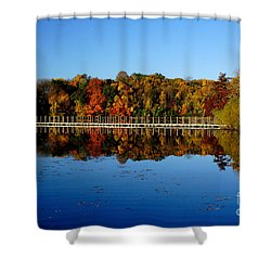 Refection Fall In Prior Lake Mn Shower Curtain