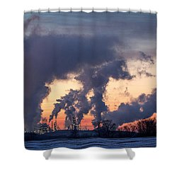 Shower Curtain featuring the photograph Flint Hills Resources Pine Bend Refinery by Patti Deters