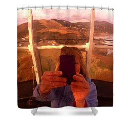 Reflect Back  Shower Curtain by Susan Garren