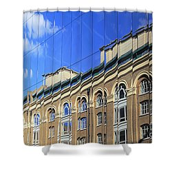 Reflected Building London Shower Curtain