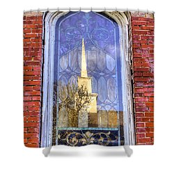 Reflected Steeple Shower Curtain