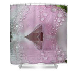 Reflected Tears Shower Curtain by Barbara S Nickerson