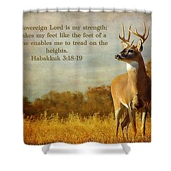 Reflecting His Glory Shower Curtain