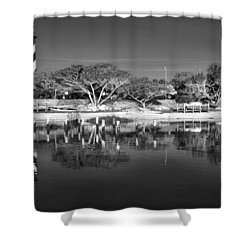 Reflecting Lighthouse  Shower Curtain by Alice Gipson