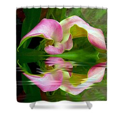 Reflecting Lily Shower Curtain by Michele Avanti