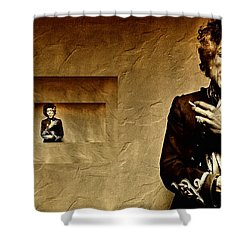 Reflecting On Jimi Hendrix  Shower Curtain