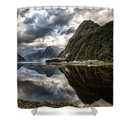 Reflecting On Milford Shower Curtain