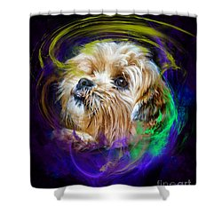 Shower Curtain featuring the digital art Reflecting On My Life by Kathy Tarochione