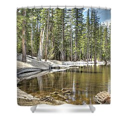 reflecting pond 2 Carson Spur Shower Curtain