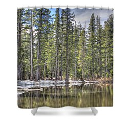 reflecting pond 4 Carson Spur Shower Curtain