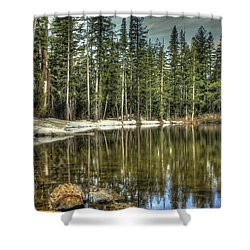 reflecting pond Carson Spur Shower Curtain