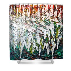 Reflecting Sails Shower Curtain by George Riney