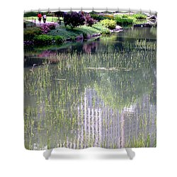Reflection And Movement Shower Curtain by Menachem Ganon