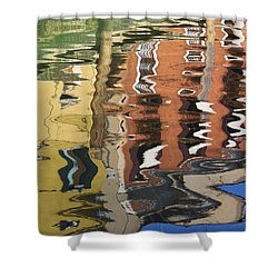 Reflection In A Venician Canal Shower Curtain