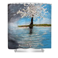 Reflection Shower Curtain by Meaghan Troup