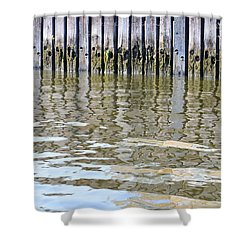 Reflection Of Fence  Shower Curtain by Sonali Gangane