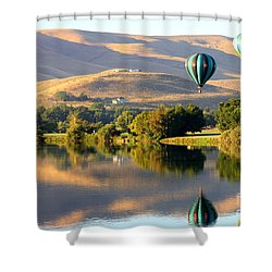 Reflection Of Prosser Hills Shower Curtain by Carol Groenen