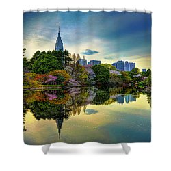 Reflection Of Spring Shower Curtain