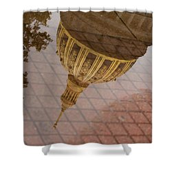 reflection of WV Shower Curtain