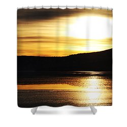 Reflection On Lake Klamath Shower Curtain