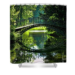 Reflection Paradise Shower Curtain by Mariola Bitner