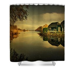 Shower Curtain featuring the photograph Reflections by Annie Snel