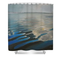 Reflections At Beach Shower Curtain