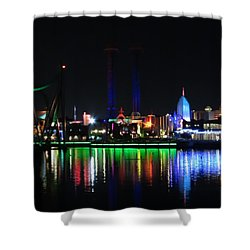 Reflections At Night Shower Curtain