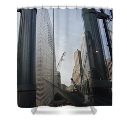 Reflections At The 9/11 Museum Shower Curtain by Rob Hans