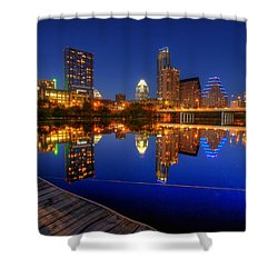 Shower Curtain featuring the photograph Reflections by Dave Files
