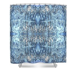 Shower Curtain featuring the digital art Reflections In Blue by Stephanie Grant