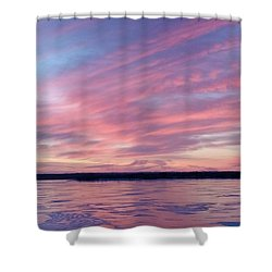 Reflections In Pink Shower Curtain by Caryl J Bohn