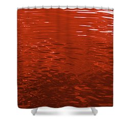 Reflections In Scarlet 2 - Abstract Art Print Shower Curtain