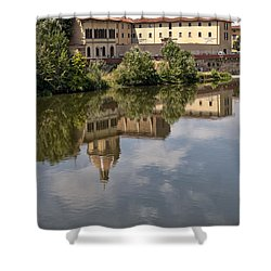 Reflections In The Arno River Shower Curtain