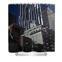 Reflections Of A City Shower Curtain by Karol Livote