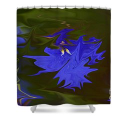 Reflections Of A Flower Shower Curtain by Carol Lynch