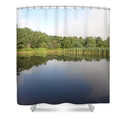 Reflections Of A Still Pond Shower Curtain by Michael Porchik