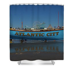 Reflections Of Atlantic City Shower Curtain by Joshua House
