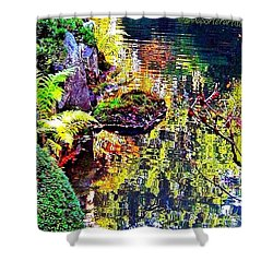 Reflections Of Autumn Shower Curtain by Anna Porter
