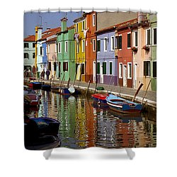 Reflections Of Burano Shower Curtain